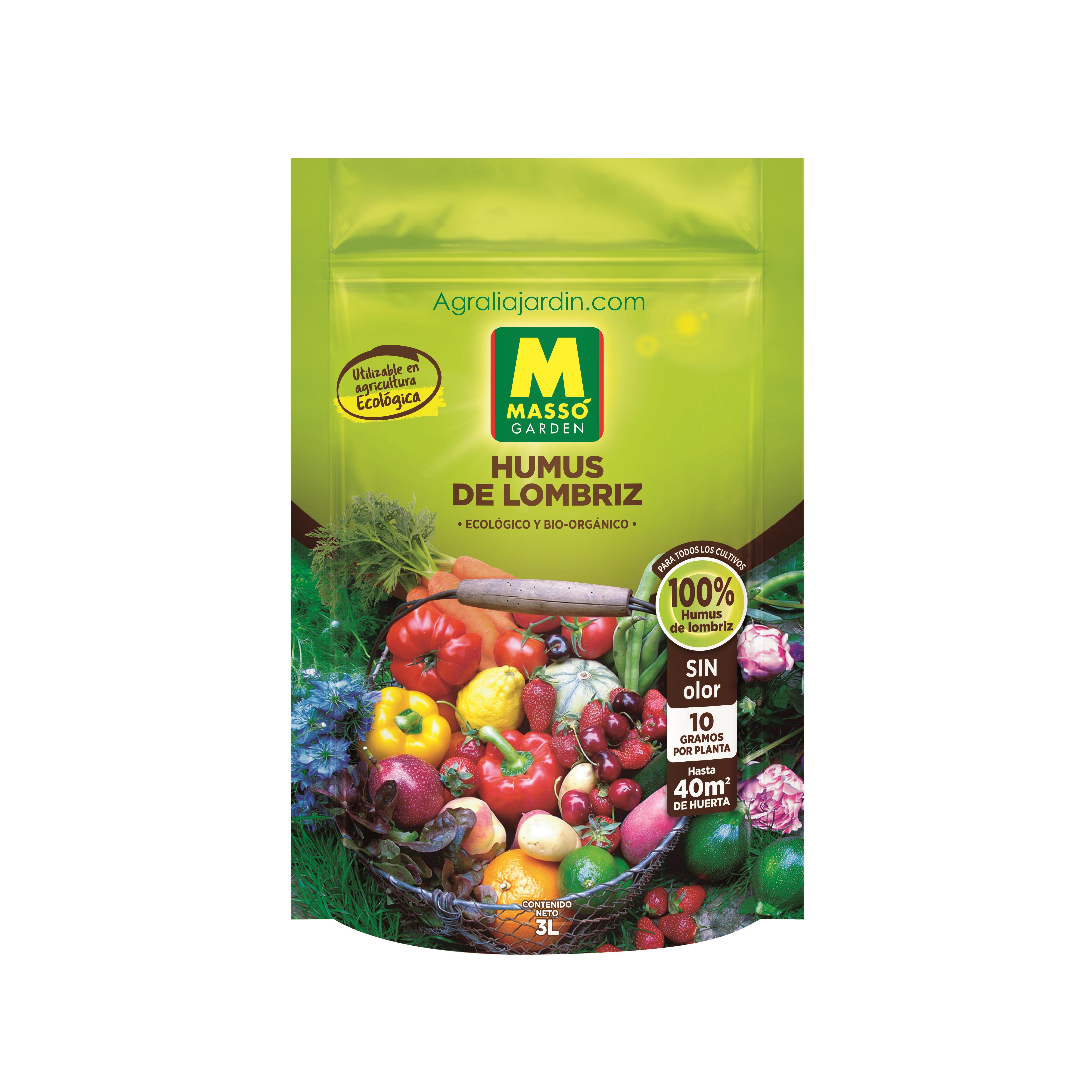 Massó Garden Humus de Lombriz 3 L agralia online (1)